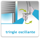 Manoeuvre par tringle oscillante